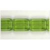 Glass Bead Bricks 16x12mm Olive Green - Strung